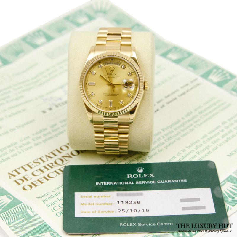 Rolex President Day-Date Watch Ref: 118238 - delivery.