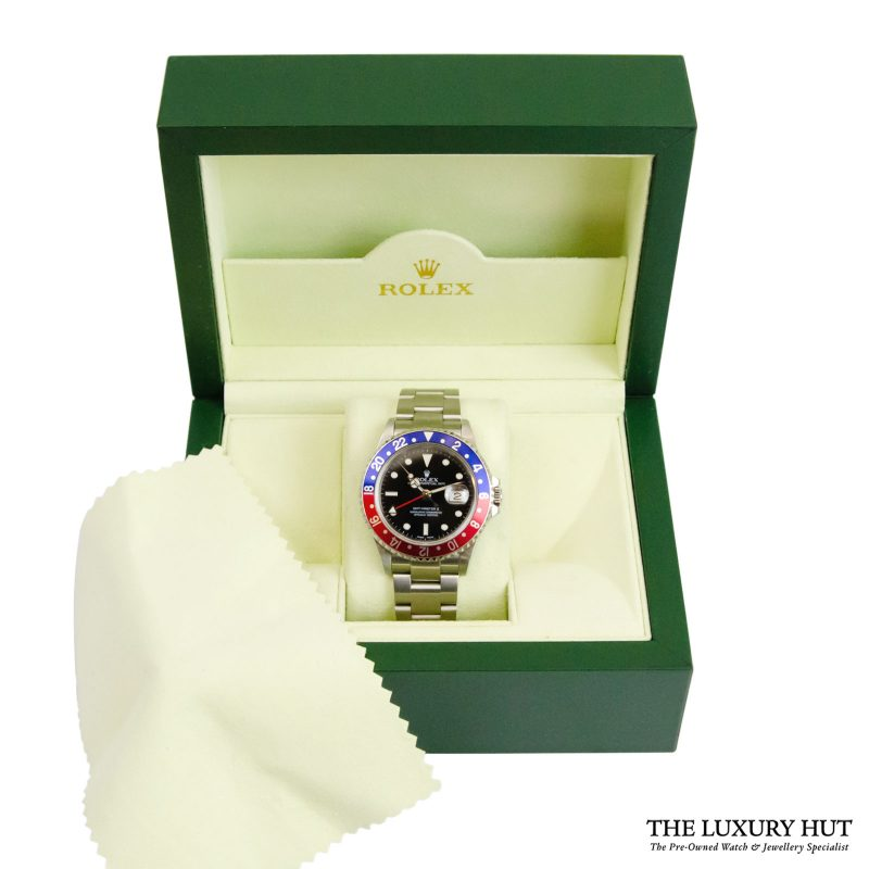 Shop Rolex GMT-Master II Pepsi Watch Ref: 16710 - 2004 - Order Online Today