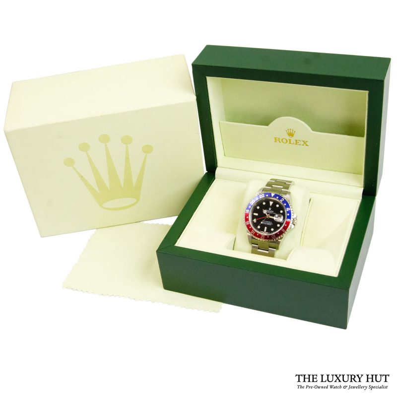 Shop Rolex GMT-Master II Pepsi Watch Ref: 16710 - 2004 - Delivery