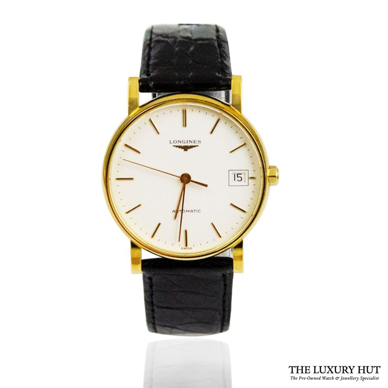 Longines 18ct Yellow Gold Quartz Watch Ref: L7.889.6 order online today for next day delivery.