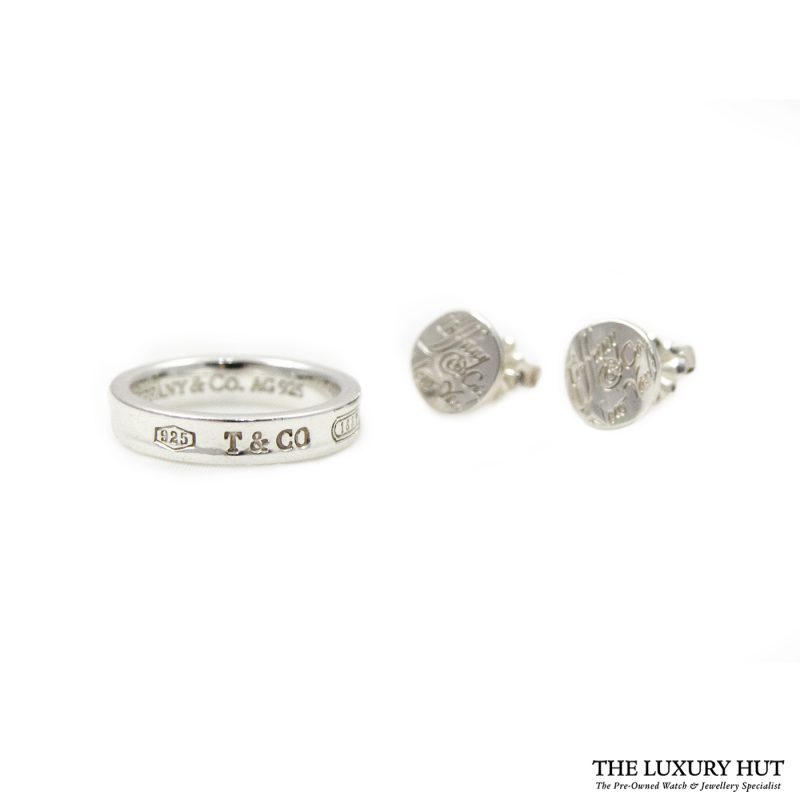 Shop Tiffany & Co. 1837 Sterling Silver Band Ring & Earrings order online today for next day delivery.