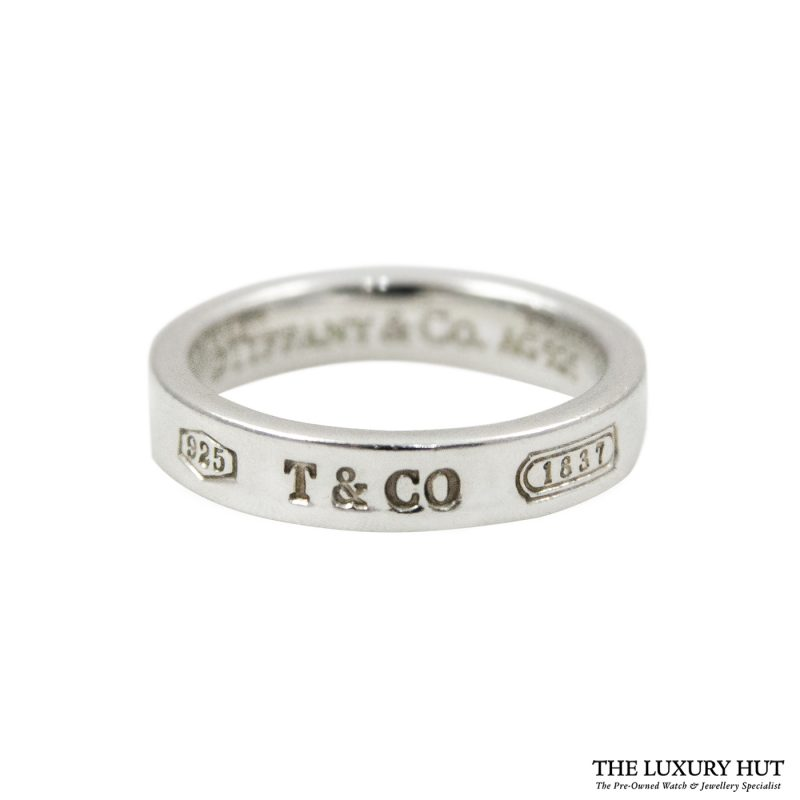 Shop Tiffany & Co. 1837 Sterling Silver Band Ring & Earrings order online today for next day
