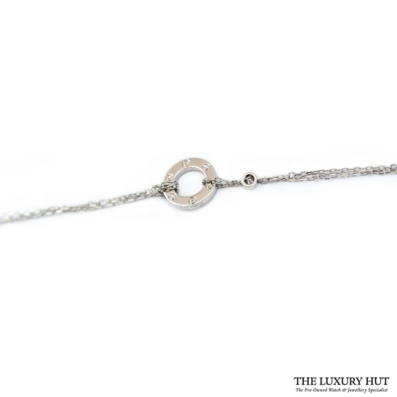 Shop Cartier 18ct White Gold And 2 Diamond Bracelet order online today