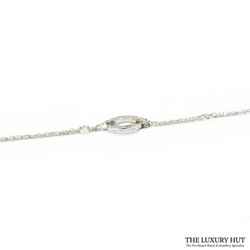 Shop Cartier 18ct White Gold And 2 Diamond Bracelet order online today delivery.