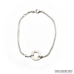 Shop Cartier 18ct White Gold And 2 Diamond Bracelet order online today for next day delivery.