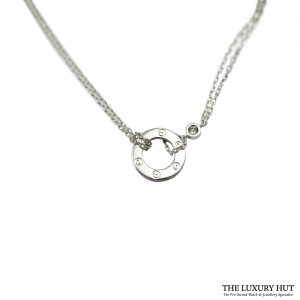 Shop Cartier Love 18ct White Gold Diamond Necklace
