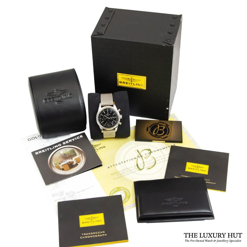 Breitling Transocean Chronograph Watch Ref: AB015212 - order online delivery.