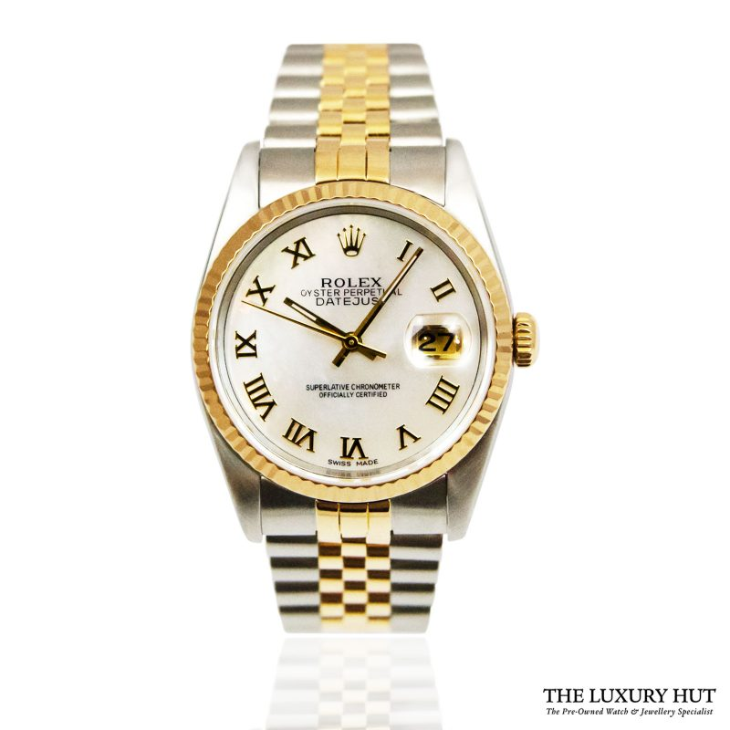 Rolex Datejust Bi-Metal 36mm Watch Ref: 16233 - order online today for next day delivery.