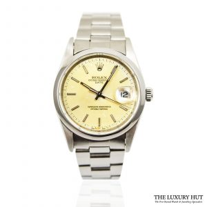 Steel Rolex Date 34mm Watch Ref: 15200 - order online today for next day delivery.
