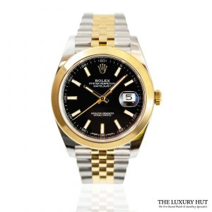 Shop Rolex Datejust Black 41mm Watch Ref: 126303