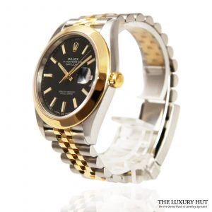 Shop Rolex Datejust Black Watch Ref: 126303