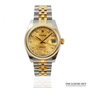 Shop Ladies Rolex Datejust 31mm Watch Ref: 178243