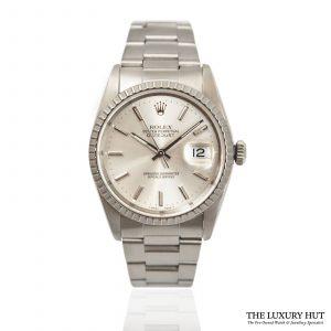 Shop Steel Rolex Datejust 36mm Watch Ref: 16220