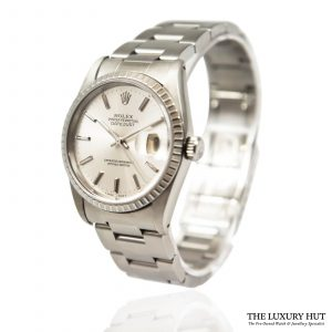Shop Steel Rolex Datejust Watch Ref: 16220