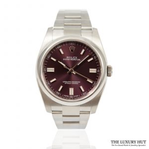 Shop Rolex Oyster Perpetual Red Watch Ref: 116000