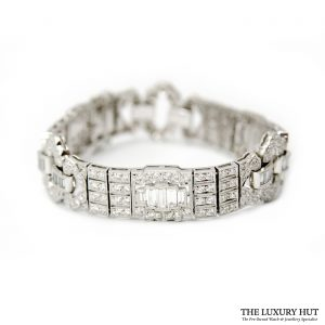 Shop 18ct White Gold Certified Diamond Bracelet