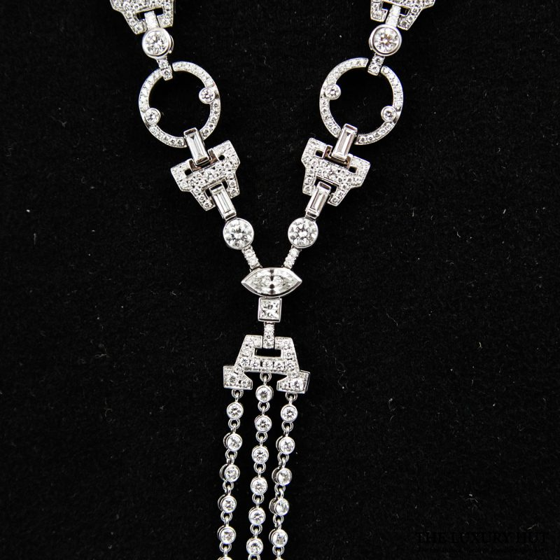 18ct White Gold Diamond Sautoir