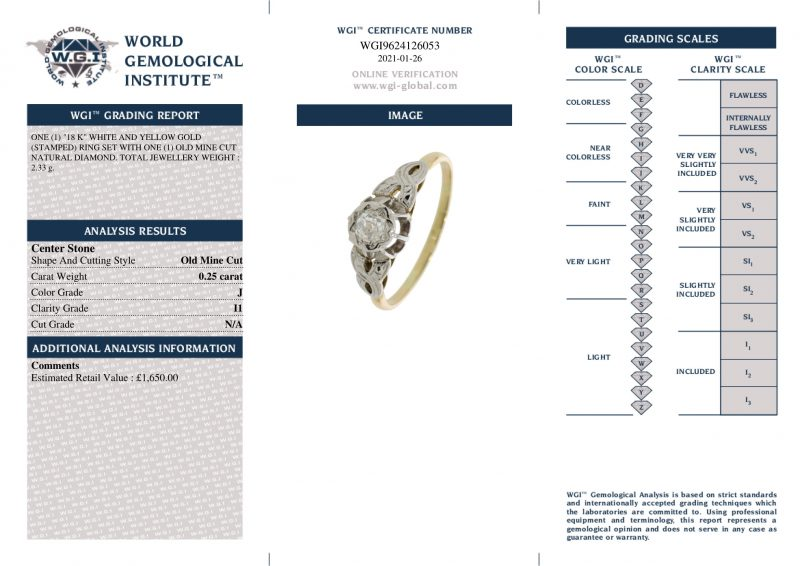 Shop 18ct White & Yellow Gold Certified Diamond Ring