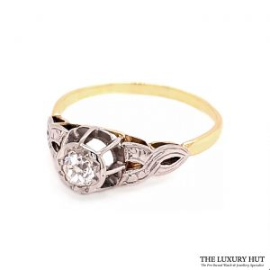 18ct White & Yellow Gold Diamond Ring
