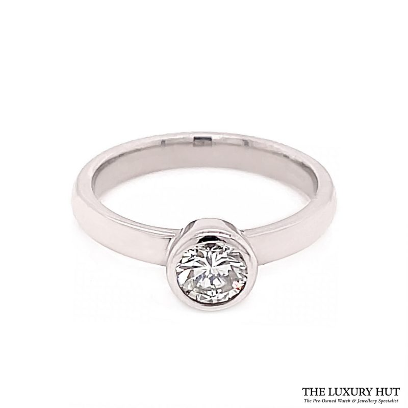 Shop Rub-Over 18ct White Gold Certified Diamond Ring