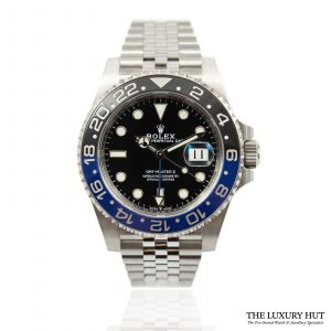 Shop Rolex GMT Master 2 Batgirl Watch Ref: 126710BLNR