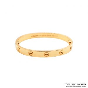 Shop Cartier 18ct Yellow Gold Love Bracelet Size 16