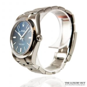 Shop Rolex Oyster Perpetual Blue 39mm Watch Ref: 114300