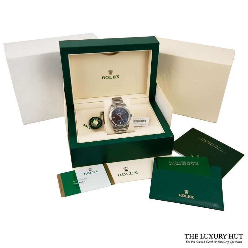 Shop Rolex Oyster Perpetual Blue 39mm Watch