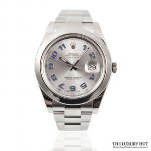 Shop Rolex Datejust II Silver Arabic Dial Watch Ref: 116300