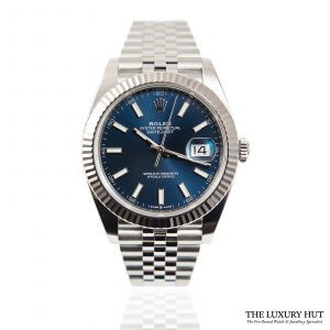 Shop Rolex Datejust Blue 41mm Watch Ref: 126334