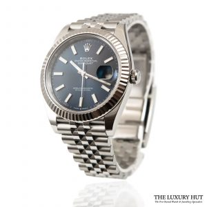 Shop Rolex Datejust Blue Watch Ref: 126334