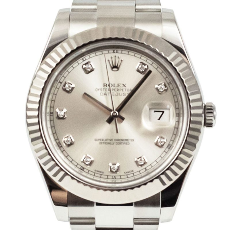 Rolex Datejust II Diamond Dial Watch Ref: 116334