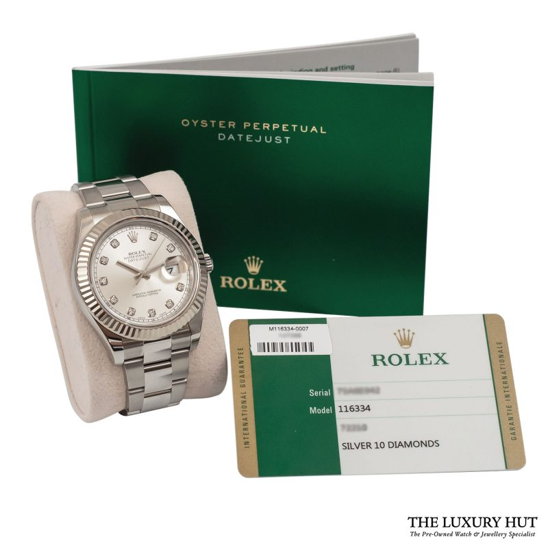 Buy Rolex Datejust II Diamond Dial Watch Ref: 116334