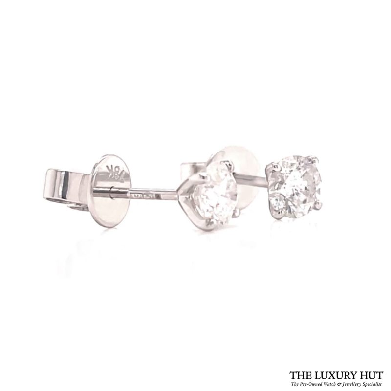 Buy 18ct White Gold 0.85CT Diamond Earrings