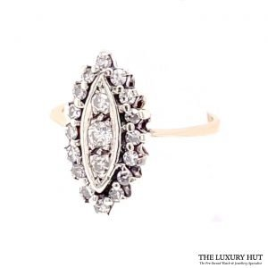 Buy 9ct Gold 0.30CT Diamond Cluster Ring