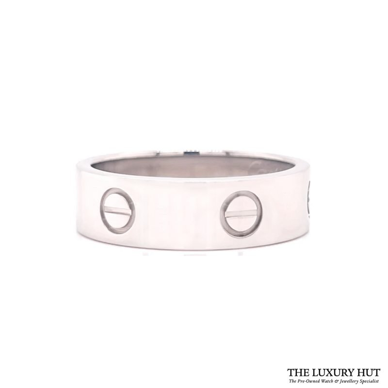Cartier 18ct White Gold Love Ring Size R