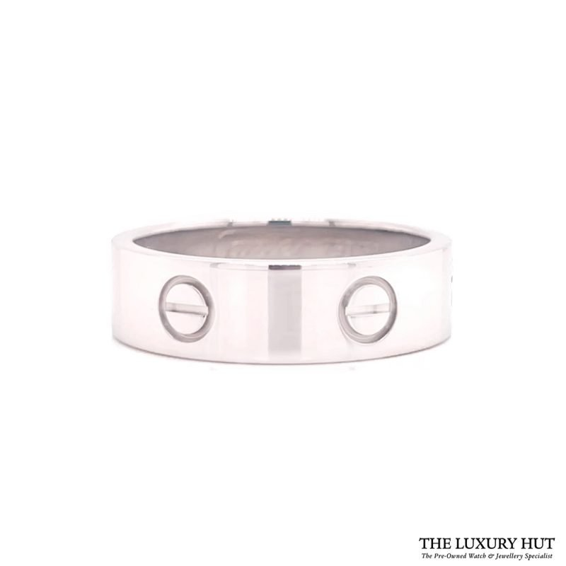 Buy Cartier 18ct White Gold Love Ring Size R