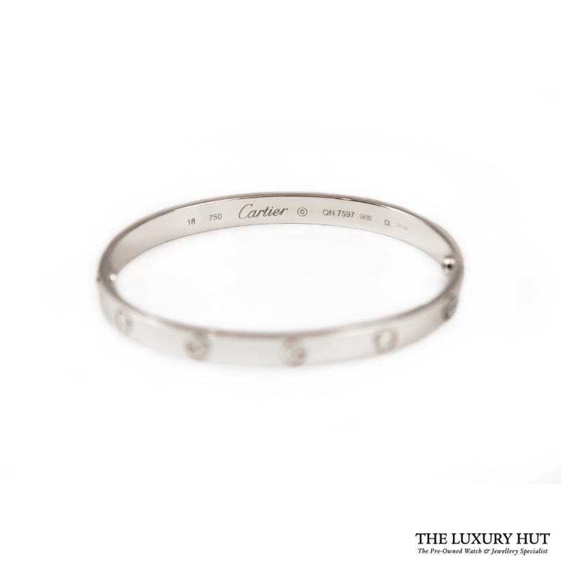 Buy Cartier 18ct White Gold Love Bangle Size 18