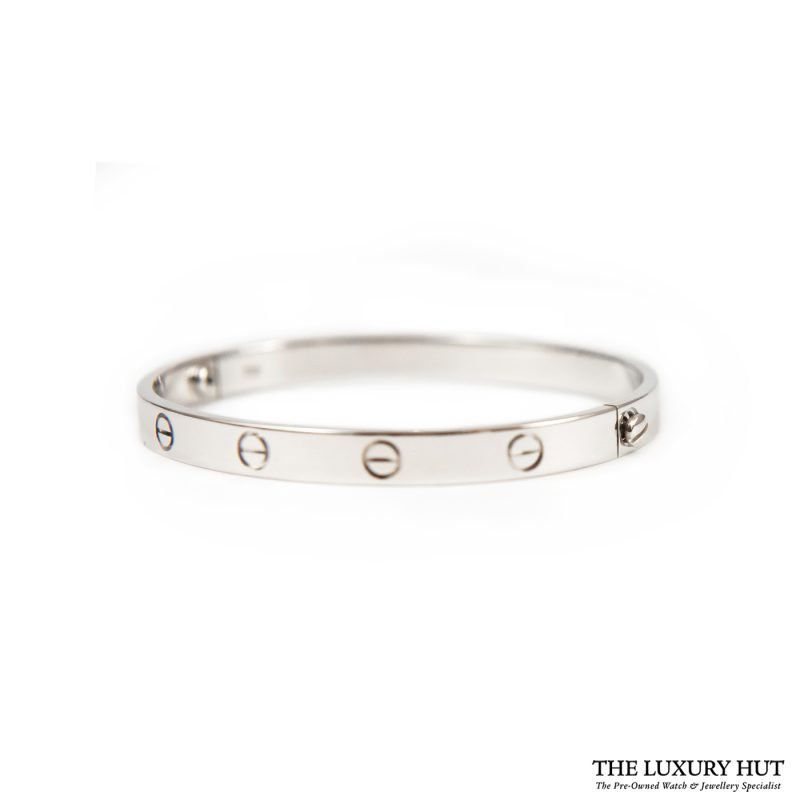 Cartier 18ct White Gold Love Bangle Size 18