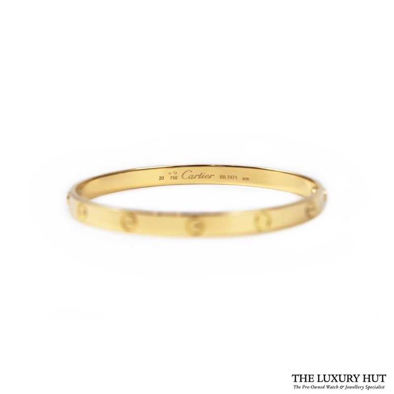 Buy Cartier 18ct Yellow Gold Love Bangle