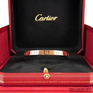 Buy Cartier 18ct Rose Gold Love Bangle