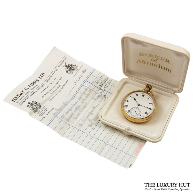 Buy Vintage 18ct Yellow Gold Lever Pocket Watch