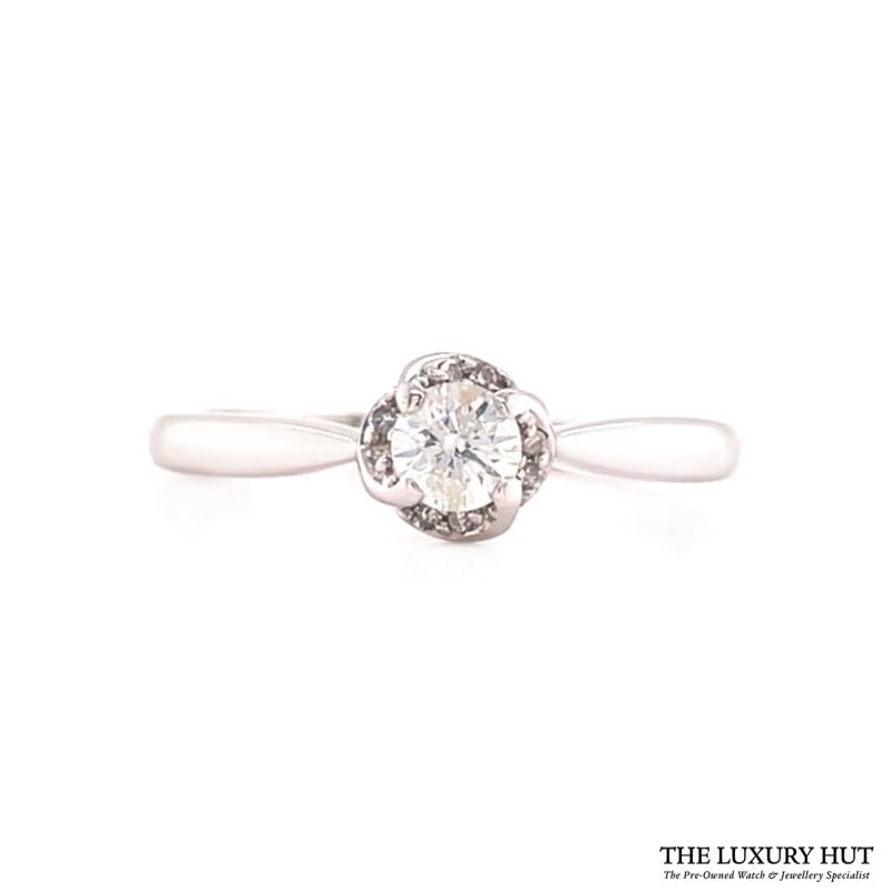 Buy 18ct White Gold Solitaire Diamond Ring