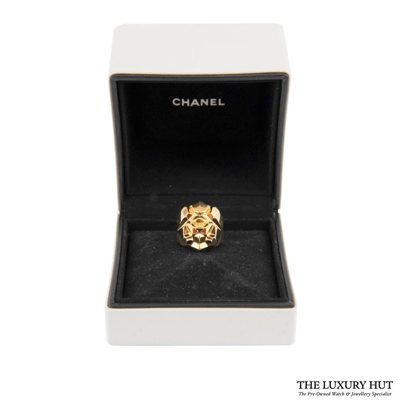 18ct Yellow Gold Chanel Ring Ref: J10793