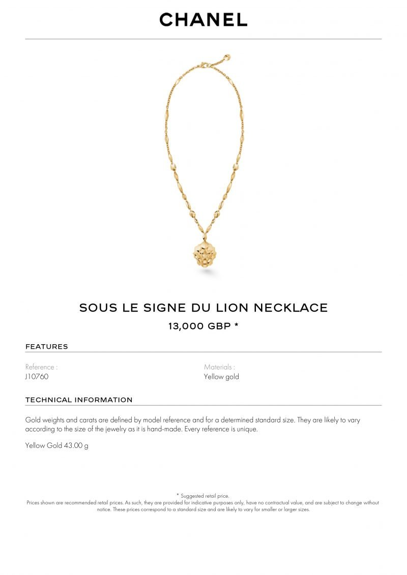 18ct Yellow Gold Chanel Necklace Ref: J10760