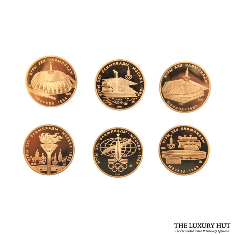 Gold Coins From The 1980 Olympic Games