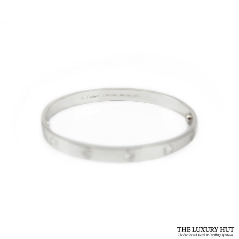 Buy Cartier 18ct White Gold Love Bangle