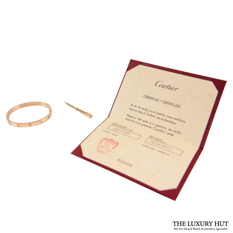 Cartier 18ct Rose Gold Love Bangle